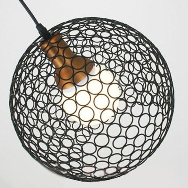 Modern Copper Ring Led Pendant Lighting 10758 Shipping: Modern Iron Ring Ball Pendant Lighting 9444 : Browse