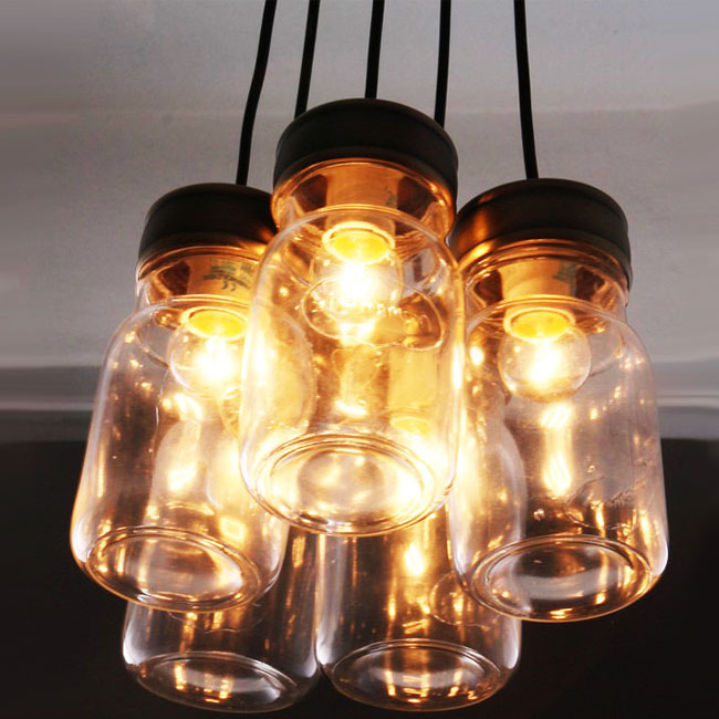 Antique 5 Jars CEILING LIGHTING 9679