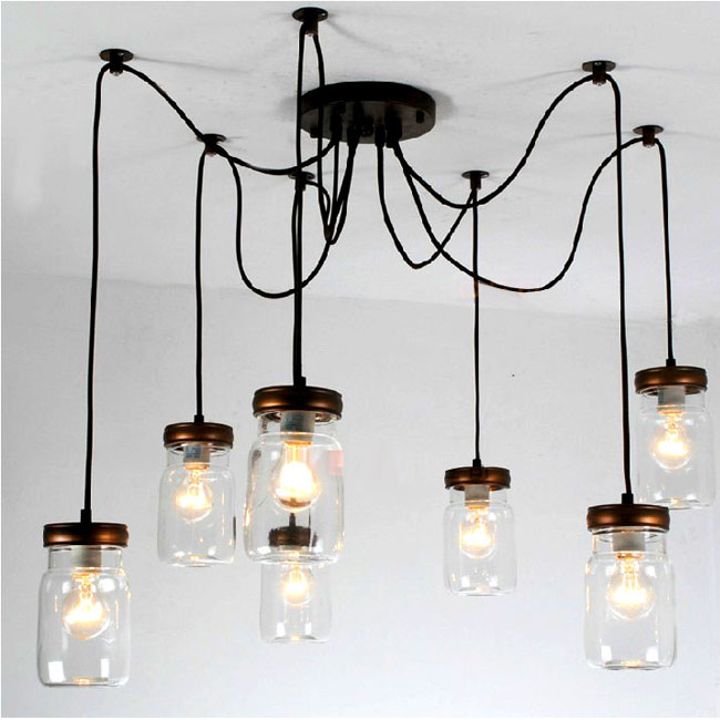 Antique 7 Jars CEILING LIGHTING 9680