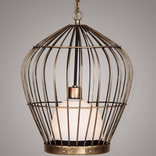 Antique Birdcage Pendant Lighting 9692