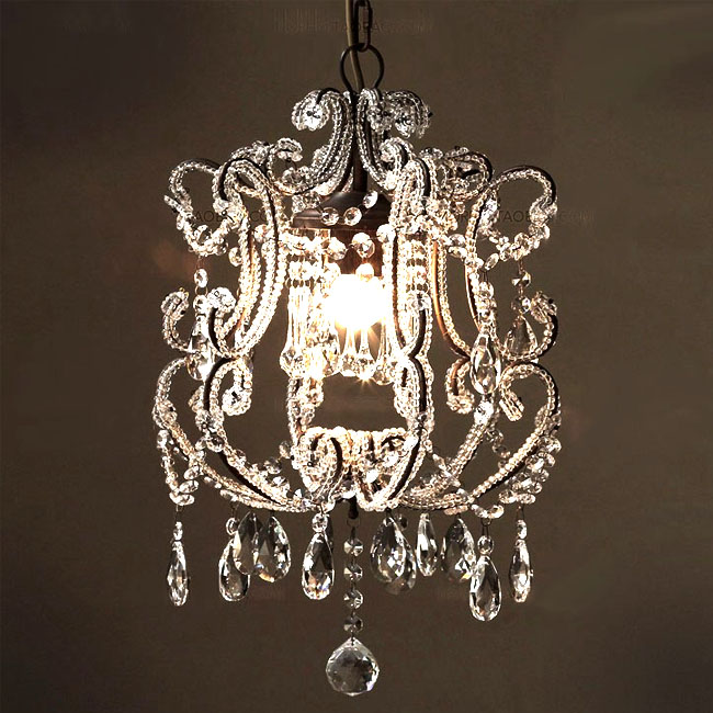Antique Iron and crystal Pendant lighting in Rusted Finish 9762