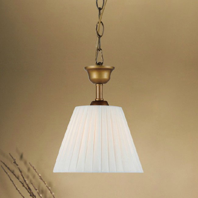 antique country fabric shade pendant lighting 9923