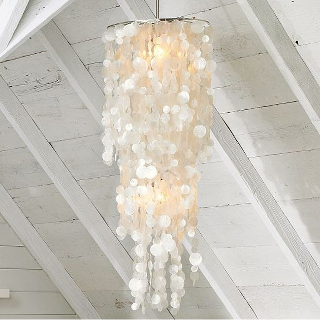 Long Hanging Capiz Pendant Lighting 10438 Browse Project