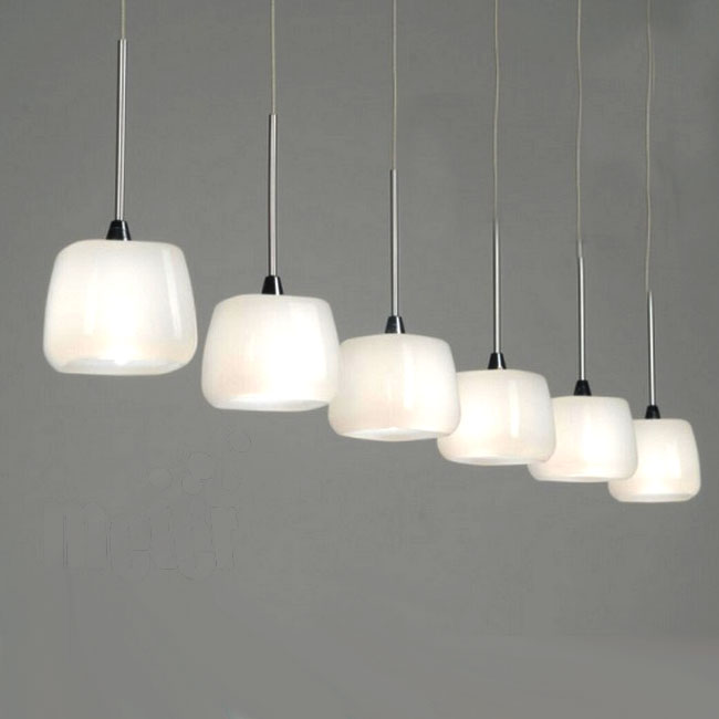 Modern Castiglioni Milk Glass Pendant Lighting 10512
