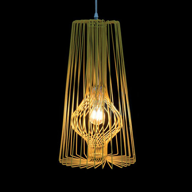 Modern Wire Pendant Lighting In Baking Finish 10515