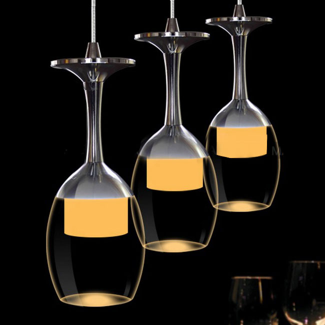 Modern plexiglass led pendant lighting in chrome finish Modern pendant lighting