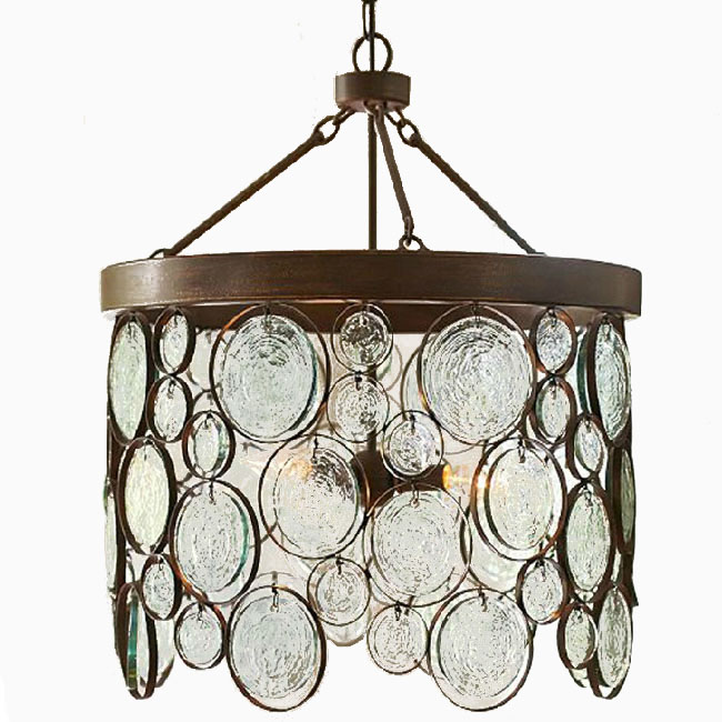 Antique HANDMADE Iron and Blown Glass Pendant Lighting 10746