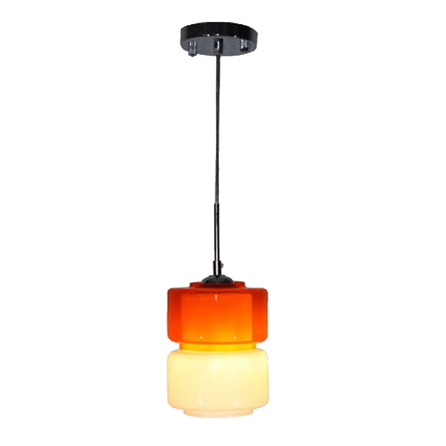 Modern Colorful Glass Shade Pendant Lighting In Chrome
