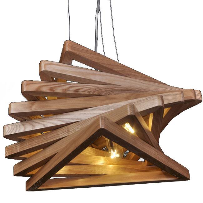 Lovely Modern Original Wood Triangles Pendant Lighting 10778
