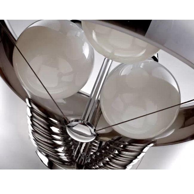 Modern Italy Glass Shade 3 Dragon Bulbs Pendant Lighting