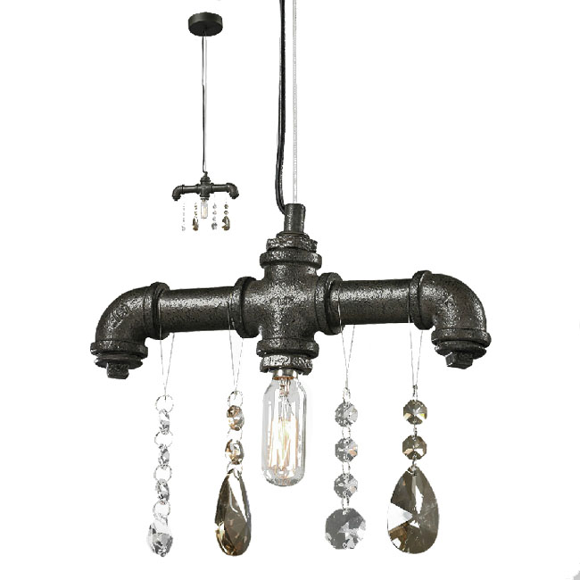 industrial style lighting fixtures home. industrial water pipe and crystal pendant lighting 7409 style fixtures home h