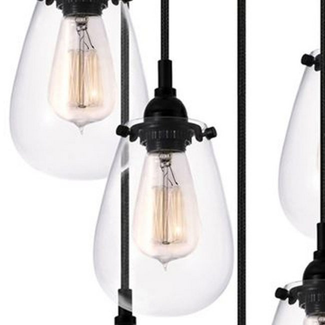 Loft Modern Iron And Clear Glass Shade Pendant Lighting