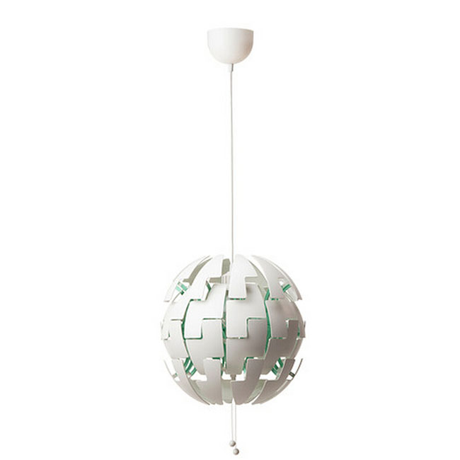 Ikea simple pvc pieces orb pendant lighting 10935 browse for Ikea orb light
