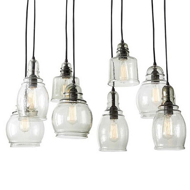 blown glass pendant lights clear canada north shade lighting uk