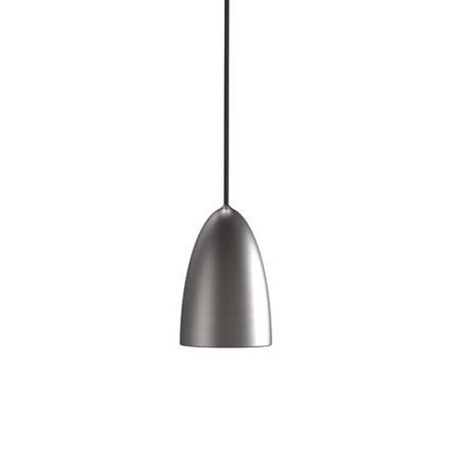 Modern Grey Metal LED Pendant Lighting In Brushed Finish