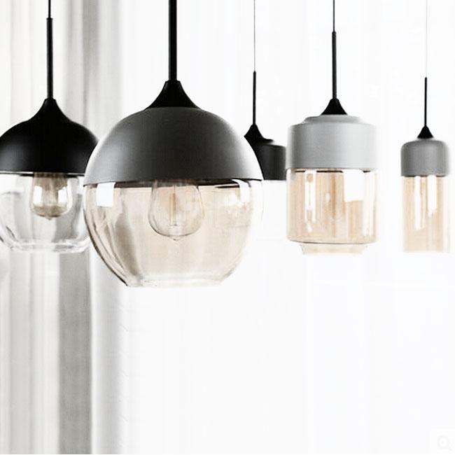 LOFT Crystal Glass And Metal Joint Pendant Lighting 11288