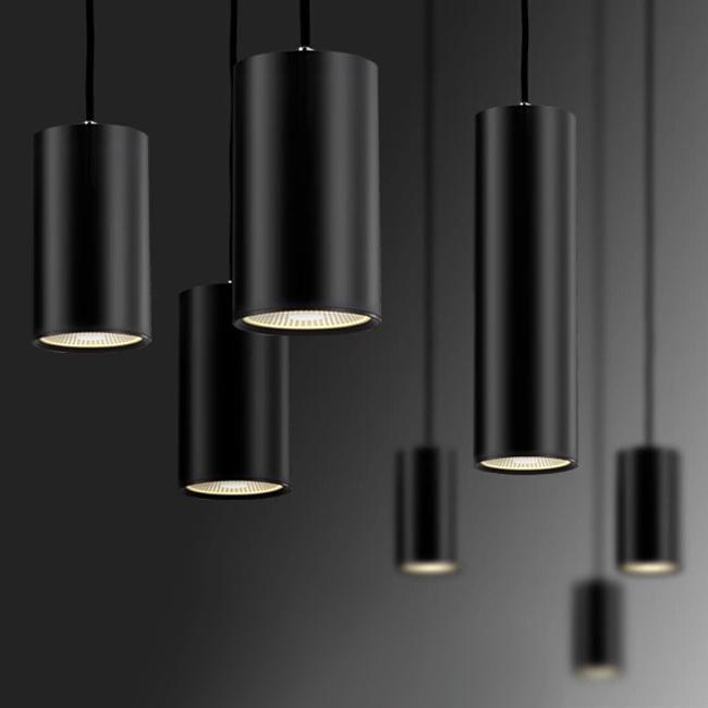 Modern Black Aluminium Tube Led Pendant Lighting 11557