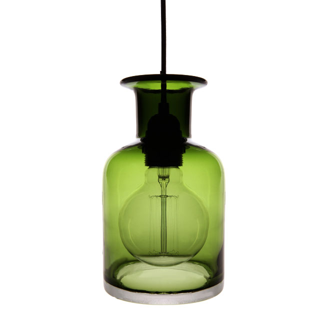 Modern Moss Green Blown Glass Shade Pendant Lighting 11629