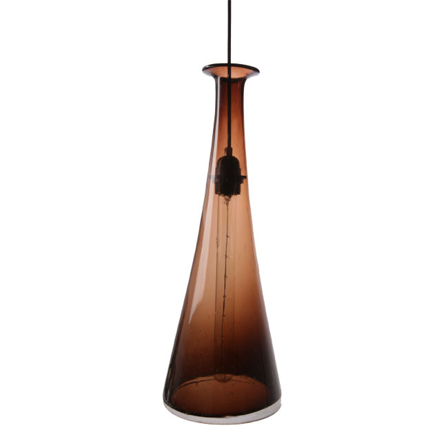 Modern Blown High Brown Bubble Glass Pendant Lighting 11631