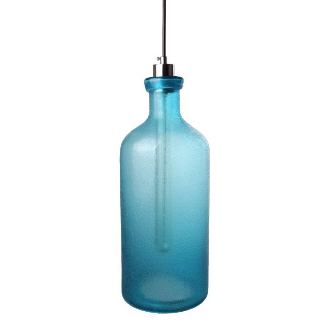 modern blown sea blue matte glass pendant lighting 11657