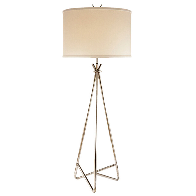 Country Copper and Flax Shade Floor Lamp 11714