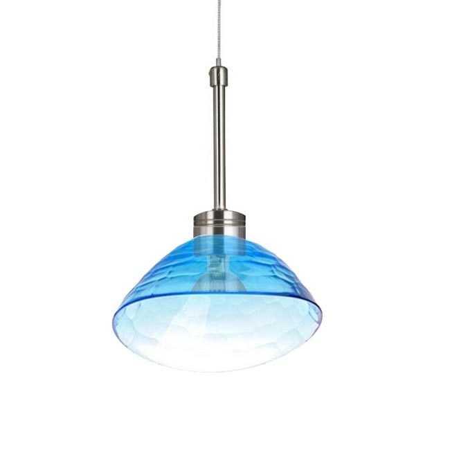 Modern Blown Blue Glass Shade Pendant Lighting 11858