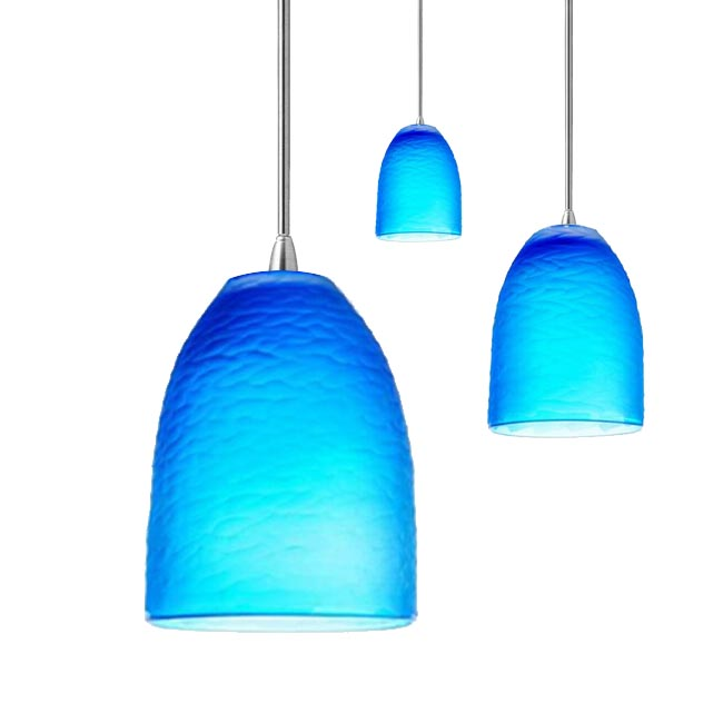 Modern Sky Blue Matte Glass Pendant Lighting 11886