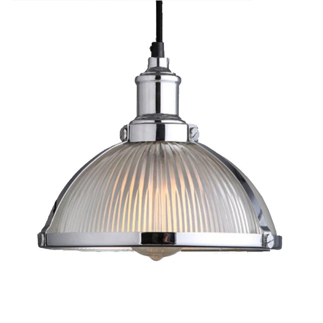 Antiqaue Industrial and Strip Glass Shade Pendant Lighting 11986