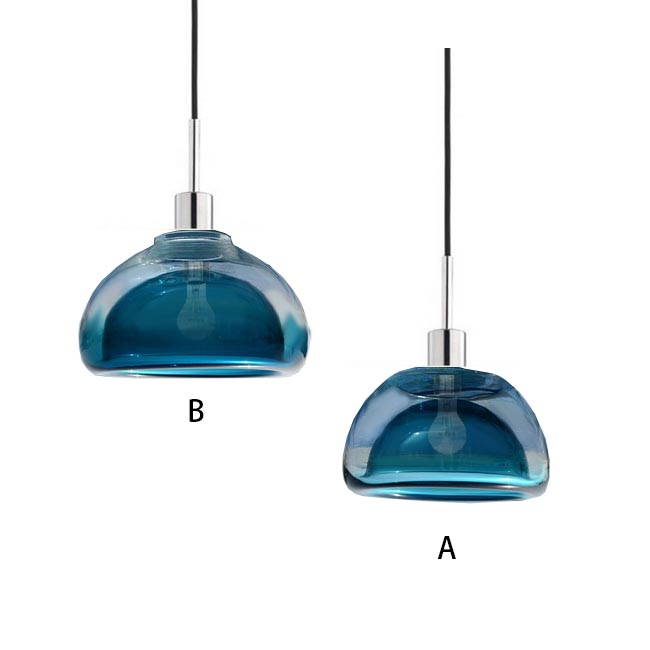 Modern Blown 2 Layers Glass Pendant Lighting 12140
