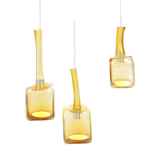 Modern Blown Light Yellow Glass Pendant Lighting 12182