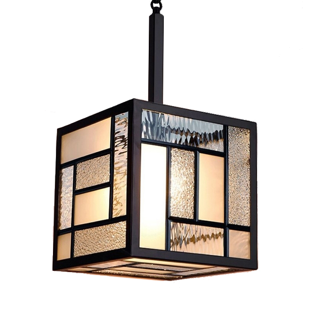 Anmex Glass and Iron Frame Pendant Lighting 12189