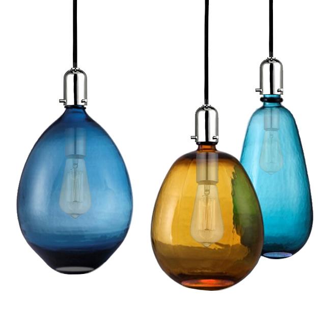 Modern Blown Glass Shade Pendant Lighting 12193 Browse