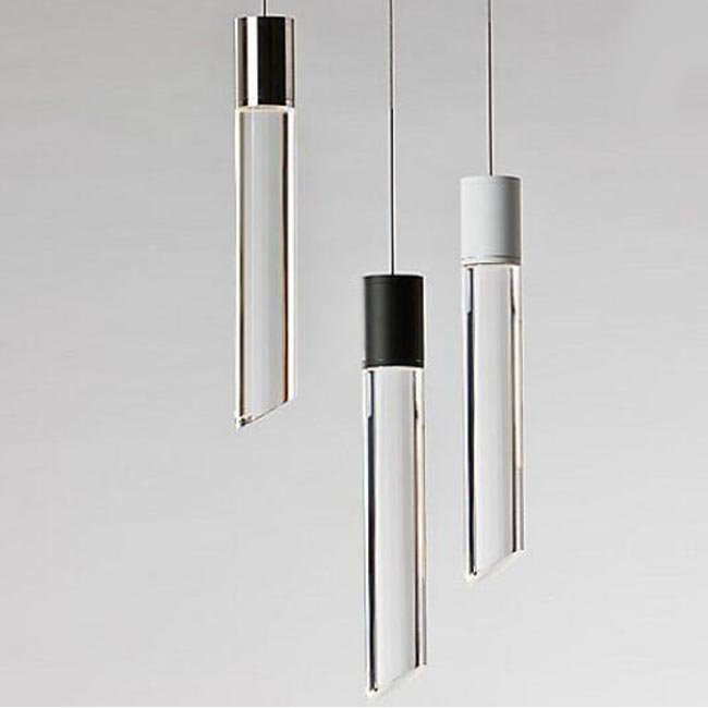 Modern LED Crystal Tube Pendant Lighting 12396 Browse