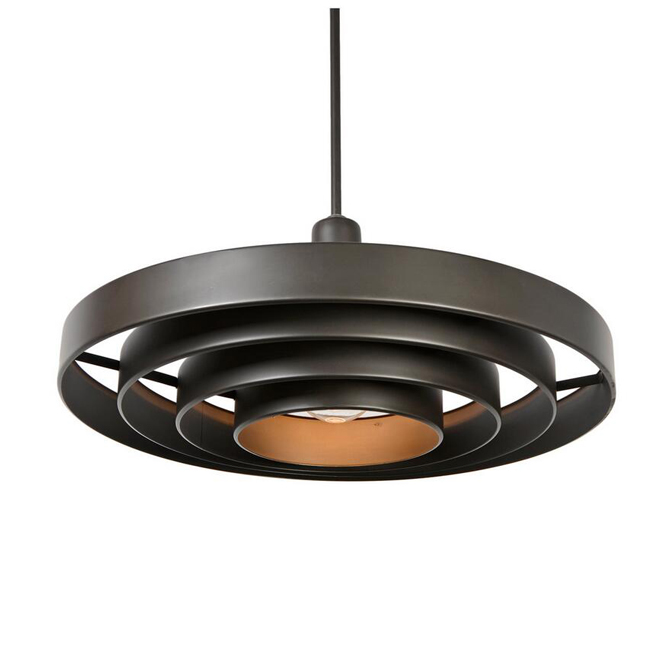 Antique Steel 4 Ring Saturn Pendant Lighting 12521