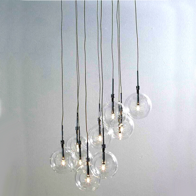 Clear Dee 10 Light Cluster Pendant Lighting 12783 Browse