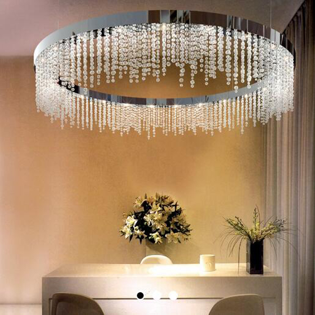 Alba Round Crytal Pendant Lighting 13055