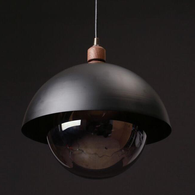 "10"" Black Dome Pendant Lighting 14003"