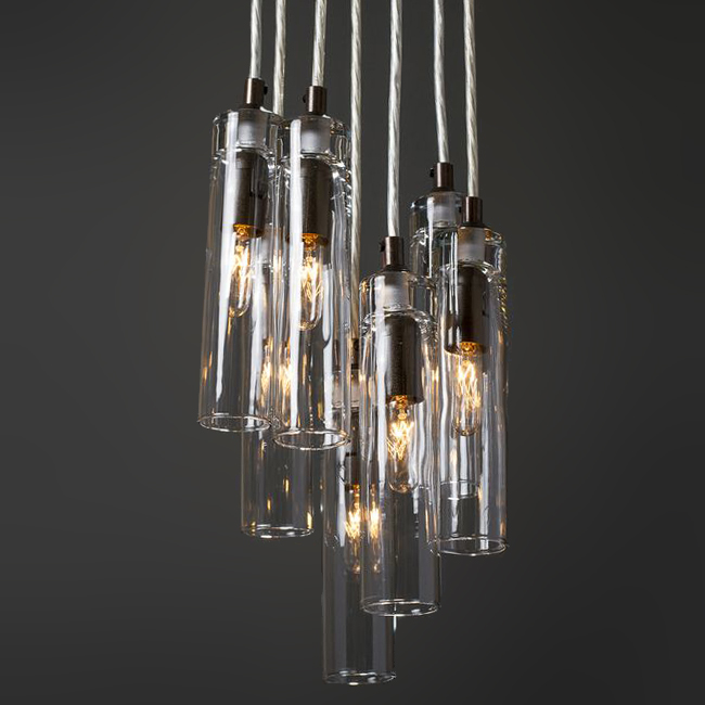 "1.75"" Cylinder Glass Pendant Lighting 16121"