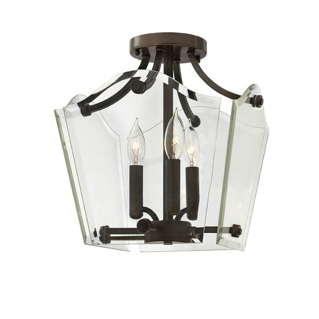country clear glass shade recessed lighting in plating finish 10