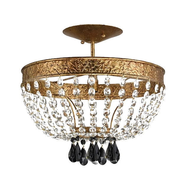 Antique Copper And Crystal Chandelier 11179 Browse