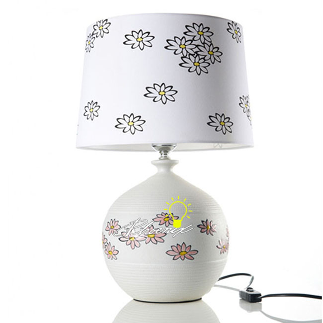 Ceramic and Fabric Table Lamp 8804