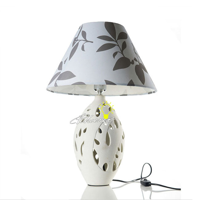 Ceramic and Fabric Table Lamp 8805