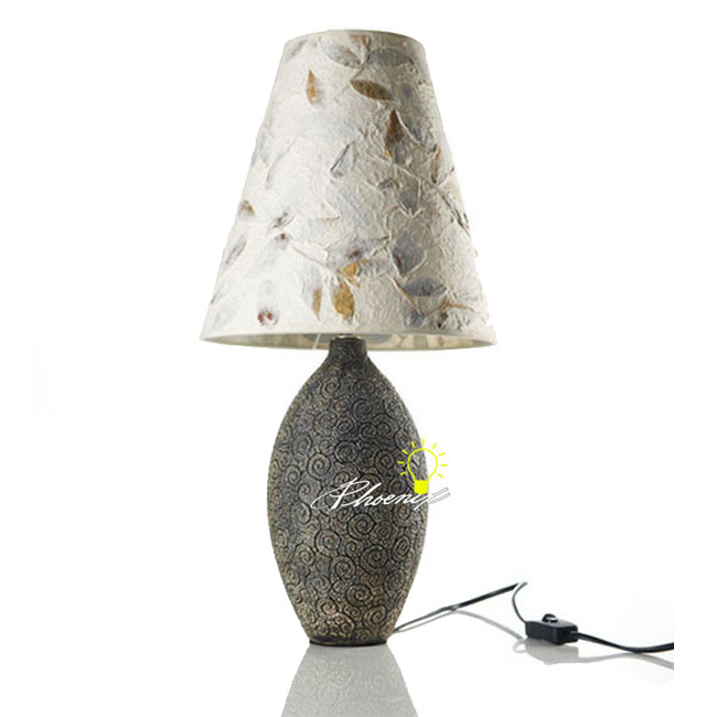 Ceramic and Fabric Table Lamp 8806