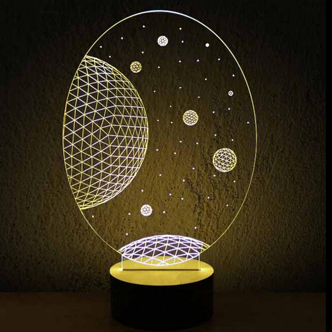 Modern Acrylic 3d Led Table Lamp 11969 Browse Project