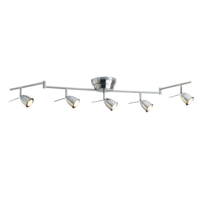 Modern 5 Spot Track lighting in Chrome Finish 10697