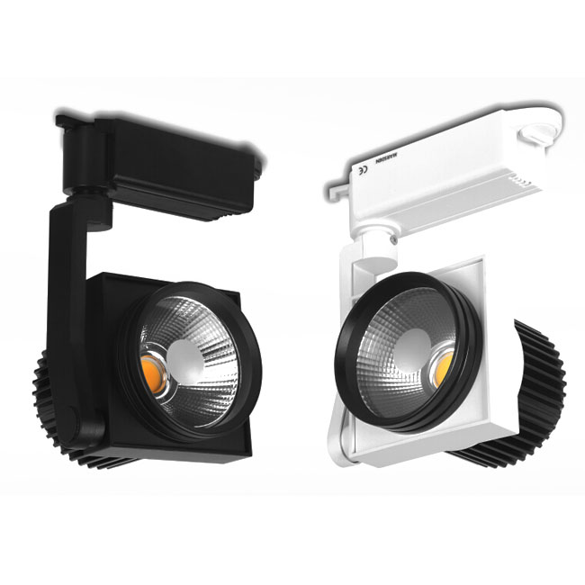 Modern White/Black 20W LED Spot Track Lighting 11151
