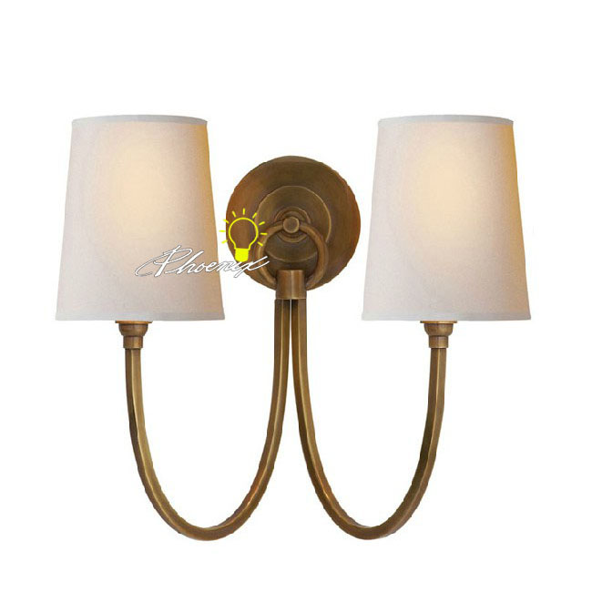Antique Double Lights Copper Wall Sconce 8758
