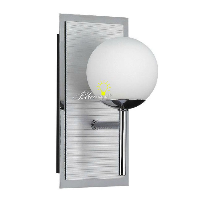 Chrome Ball Wall Lights : Modern Glass Ball Wall Sconce in Chrome Finish 8983 : Browse Project Lighting and Modern ...