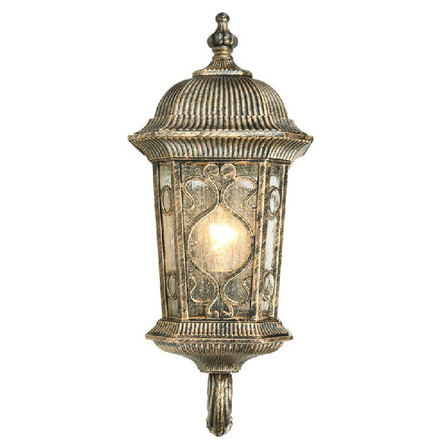Antique UP Metal and Water Glass Outdoor Wall Sconce 9576 : Browse Project Lighting and Modern ...