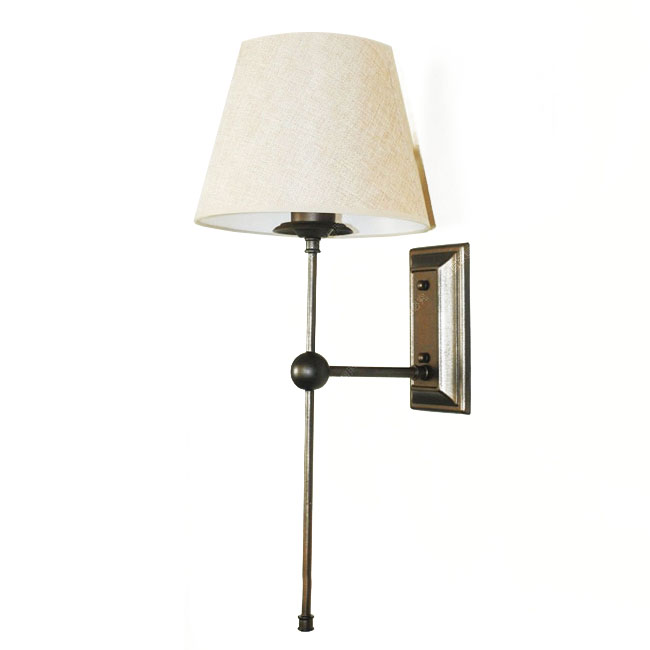 Wall Sconce Metal Shade : Antique Flax Shade and Metal Wall Sconce 9844 : Browse Project Lighting and Modern Lighting ...